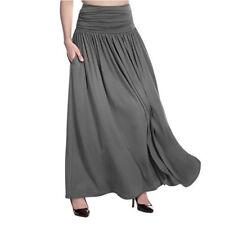 Women High Waist Flared Pleated Long Dress Gypsy Maxi Skirt S-5xl Plus Size