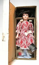 """1990 HOUSE OF LLOYD PORCELAIN """"VALENTINE DOLL"""" #120176 NEW IN BOX...Hard to find"""