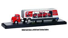 M2 MACHINES 1:64 AUTO-HAULERS 36000 19A 1956 FORD COE & 1970 FORD TORINO COBRA