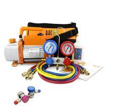 BACOENG 3CFM Vacuum Pump Refrigeration AC HVAC Manifold Gauge Tools AU 240V Plug