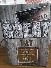 LARGE DAD BIRTHDAY CARD & ENVELOPE DIY TOOLS INSERT PRELUDE VERSE FREEPOST