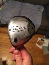 LH CALLAWAY BIG BERTHA STEELHEAD III 3 WOOD Uniflex Steel Shaft