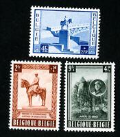 Belgium Stamps # B555-7 VF OG LH Catalog Value $70.00