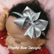 Silver Boutique Dainty Hair Bow Headband 4 Preemie Newborn Toddler Christmas