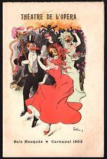 Programme. Théâtre de l'Opéra. Bals masqués, carnaval 1903. Grün