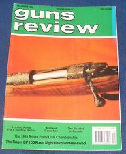 GUNS REVIEW MAGAZINE DECEMBER 1989 - THE RUGER GP100 FIXED SIGHT REVOLVER