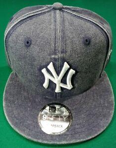 New York Yankees MLB New Era 59Fifty One Size Snapback Hat Cap Denim NEW