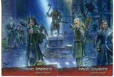 LORD OF THE RINGS 2 CARD PUZZLE SKETCH CARD ARTIST DAVID RABBITTE PSC ACEO