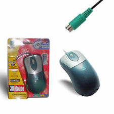 Wired 3D Noiseless Mouse Ball Mice Wheel Scroll PS/2 for PC / Desktop Computer