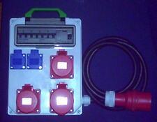 Stromverteiler,Adapter 32A auf 1x 32A,2xCEE 16A,2xSchuko+Fi-Schalter