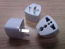 AU / ASIA UNIVERSAL TRAVEL ADAPTER PLUG: EU, UK, US to AU / ASIA -LOT OF 3 PLUGS