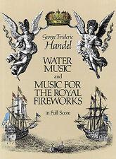 Handel Water Music For The Royal Fireworks Full Score Sheet Music Book