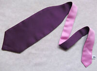 Boys Cravat WEDDING Tie FORMAL PARTY One Size SINGLE END PURPLE PINK