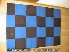 Fahnen Flagge  Karo Blau Schwarz - 98 x 140 cm