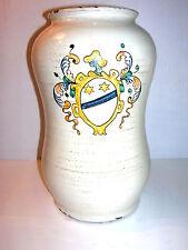 Apotheke antik Keramik Majolika Gefäß mit Wappen
