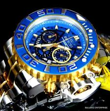 Invicta Sea Hunter III Blue 70mm Full Sized Swiss Two Tone Gold Plated Watch New