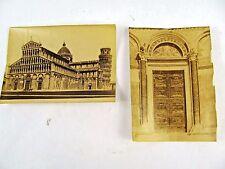 Baptistry & Pisa Duomo Cathedral view antique Cabinet Card Carte de Vista Photos