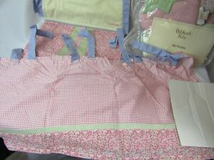 OshKosh 5pc LOT Set Strawberry Garden Nursery Wall Hanging Curtain Diaper Caddy