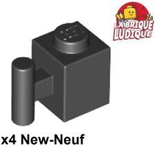 Lego - 4x Brique Brick modified 1x1 handle poignée barre noir/black 2921 NEUF