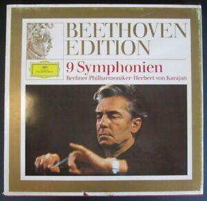 Beethoven Edition 1 - 9 Symphonien - Berliner Philharmoniker Karajan - 8 LP-Box