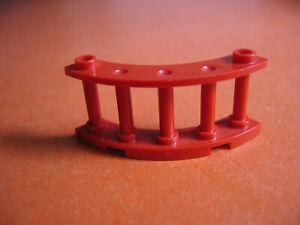 Lego 30056 Zaun gebogen rot für Piratenschiff  7075  3451 10024