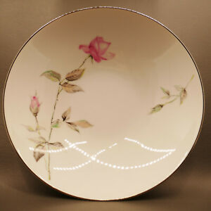 """Vintage '50s Style House Dawn Rose Fine China 9"""" Serving bowl"""