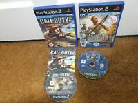 Call of Duty 2 Big Red One - Medal of Honor Rising Sun PLAYSTATION 2 PS2 Bundle