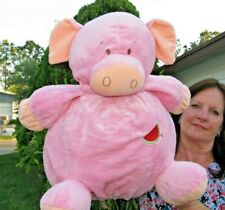 LARGE Far East Brokers and Consultants Pink Pig Fat Plush Stuffed Animal Doll