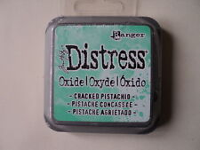 """TIM HOLTZ DISTRESS OXIDE INK PAD CRACKED PISTACHIO FULL SIZE 2"""" BNIP *LOOK*"""