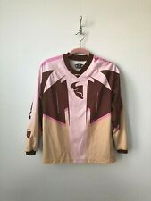 Thor Girls Riding Long Sleeve Top Jersey Pink Brown Size Large