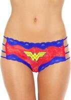 Wonder Woman Side Strings Lace Hipster Logo XL Red Blue Comic Fan Lingerie Gift