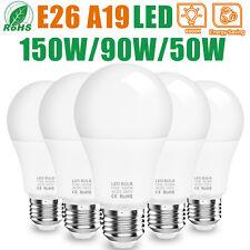 150W 90W 50W Equivalent LED Light Bulbs E26 A19 6500K Energy Saving Light Bulbs