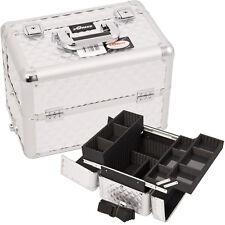 Makeup Train Case Cosmetic Aluminum Organizer Nail Artist Storage Pro Sunrise