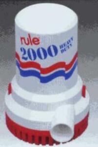 Rule 11 2000 Gph Bilge  Pump 2000 Gph 32V 4357
