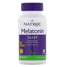 Natrol 3mg 100 Tablets Stress Anxiety Sleep Fall Asleep Faster & Longer I