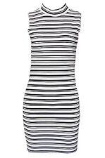 Striped Sleeveless Viscose Mini Dresses for Women