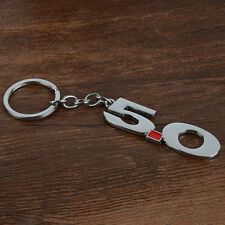 1pc Silver Car Metal Number 5.0 Keychain Key Ring Keyfob Fit For Ford Mustang