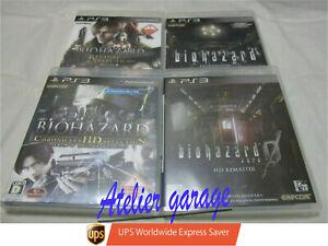 W/TRK. English PS3 Biohazard Zero 0 +Chronicles+HD + HD Revival Selection 4 Set