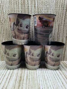 Mandalorian Baby Yoda The Child 16 oz. Plastic Favor Cup (LOT OF 5 CUPS)