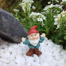 "Miniature Dollhouse FAIRY GARDEN  Accessories ~ TINY 1⅛"" Tall Waving Gnome ~ NEW"