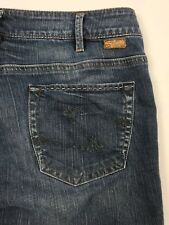 Silver Tina Bootcut Lightly Distressed Blue Jeans Women's 33/33 Actual 34/32