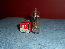 RCA 6CG7 VACUUM TUBE CLEAR TOP Vintage NOS box tab (9-60) Tested Audio HamRadio