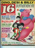 16 Magazine Feb.1966 Dino,Desi & Billy Sonny & Cher Turtles Yardbirds    MBX89