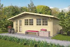 44mm Gartenhaus ISO 600x600 cm Holz Holzhaus Blockhaus Schuppen Hütte