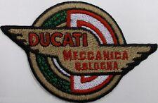 Toppa ricamata patch termoadesiva logo marchio DUCATI MECCANICA old style cm. 10