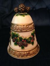 NOS NAPCO CHRISTMAS BEIGE/GOLD BELL