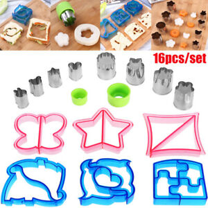16pcs Sandwich Cutter for Kids Large Cookie Shape Cutter Bread Toast Food Molds