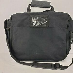 3 Compartment Organizer Laptop Office Briefcase Nylon Day bag Lipton logo 16x12