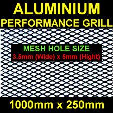 MITSUBISHI NISSAN SUBARU MG AC ALUMINIUM BLACK NET GRILL 25x100cm Mesh 3,5x5mm