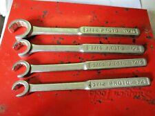 vintage 4 piece Proto wrenches 3712,3714,3716,3722.
